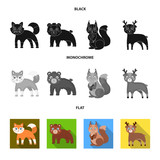 Zoo, nature, reserve and other web icon in black, flat, monochrome style.Artiodactyl, nature, ecology, icons in set collection. - 208367148