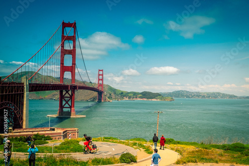 Fotobehang San Francisco Golden Gate Bridge, San Fransisco, USA