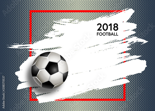Fototapeta Football. Vector illustration of a soccer cup. Football championship 2018. Element for design poster, banner, card, flyer