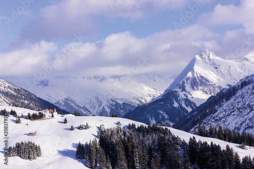 Foto Murales Snowy Mountains No.5 - Austria Vorarlberg