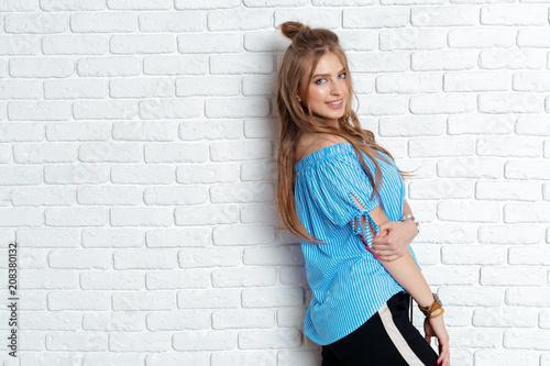 Close up fashion portrait Woman