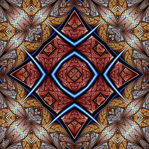 abstrakt fraktal symmetrisch muster