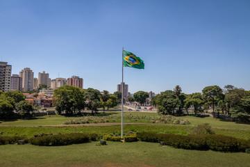 Brazilian Flag at  Independence Park (Parque da Independencia) in Ipiranga - Sao Paulo, Brazil