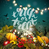 Halloween greeting card - 208406120