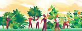 Persone comuni all'opera per creare aree verdi - 208412144