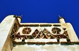Detail from a traditional dove-cote, pigeon house in Tinos island, Cyclades, Greece. - 208422514