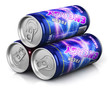 Energy drinks in metal cans - 208425393