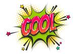 Cool pop art comic book text speech bubble - 208427594