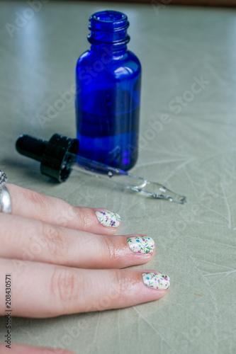 Fotobehang Manicure Nail Oil Manicure View 1