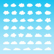 Set of vector clouds - 208435791