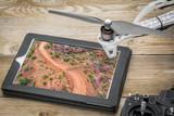 desert road - aerial view - 208436955