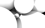 white abstract 3d circle premium background