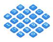 Isometric icons of data