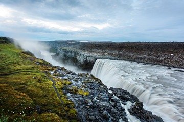 Dettifoss - most powerful waterfall in Europe. Jokulsargljufur National Park, Iceland