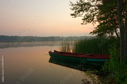 View on a lake during dawn
