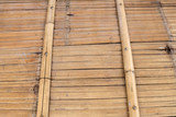 old grungy thai handcraft of bamboo weave pattern fence