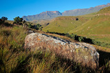 Scenic Drakensberg mountain landscape, Giants Castle nature reserve, South Africa.