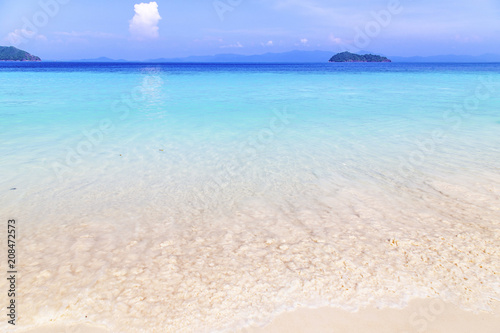 Fotobehang Tropical strand Beautiful beach and tropical sea at Nyaung Oo Phee Island, Myanmar.