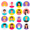 Set of colorful vector icons. people. flat cartoon characters design