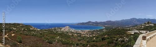Calvi bay panorama in corsica coast - 208475391