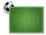 PANNEAU TERRAIN DE FOOTBALL - 208475755