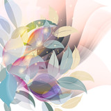 Abstract vector background with colorful pastel foliage - 208482977