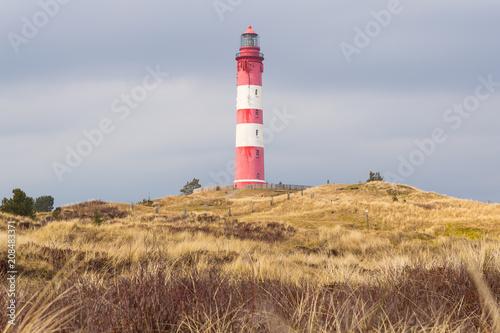 Fotobehang Vuurtoren The Lighthouse on Amrum (North Sea)
