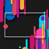 Black background with bright abstract colorful pattern.