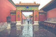 Ancient architecture of the palaces complex in the Forbidden City, Beijing, China.