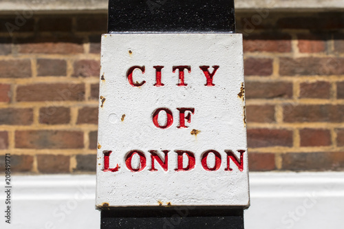 Fotobehang London City of London