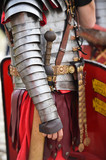 Reenactment detail with roman soldiers uniforms - 208494308