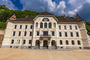 Liechtenstein National Archives building in Vaduz © Boggy