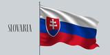 Slovakia waving flag vector illustration