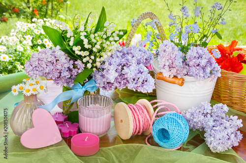 Lily of the valley and lilac - springtime decorations