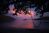 Sunset colors over the ocean in the Komodo Islands