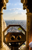 Panoramic view of Paris from the viewpoint