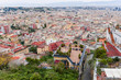 Quadro Panoramic scenic view of Naples buildings from San Martino hill, Campania, Italy, Europe