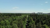 Top view of house in forest in Moscow, Russia. - 208520332