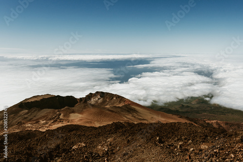 Fotobehang Blauwe jeans Above the clouds on Teide Volcano, Canary Islands - Tenerife, Spain