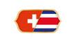 Soccer world championship Switzerland vs Costa Rica. Vector illustration.