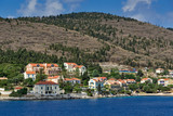 Panoramic view of Fiskardo village, Kefalonia, Ionian islands, Greece