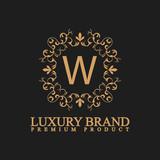 logo luxury W - 208529723