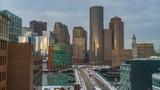 Timelapse of Boston city center at winter morning - 208531105