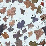 Seamless decorative hand drawn butterfly art illustrations. Digital, details, wild & canvas.
