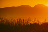 Sunrise over mountain hill - 208538716
