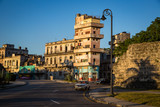 HABANA, CUBA-JANUARY 12: City street on January 12, 2018 in Habana, Cuba. Street view of Habana