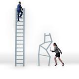 Concept of inequal career opportunities between man woman - 208556566