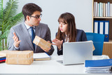 Business people receiving new mail and parcels - 208557500