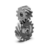 Helical bevel gear. Low-speed gear train. 3D rendering - 208563957
