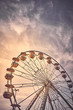 Quadro Vintage toned picture of a Ferris wheel at sunrise.
